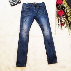 RSQ Seattle Skinny Tapered Jeans 31 x 32 Distress